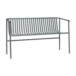 Sivá železná lavica Hübsch Bench