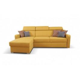 Rohová sedačka rozkladacia Meli levý roh ÚP žltá