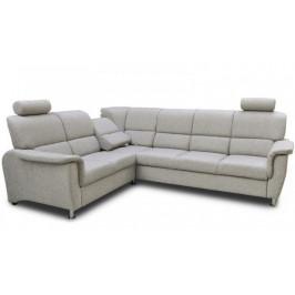 Rohová sedačka rozkladacia Duo Panama ľavý roh ÚP sivá
