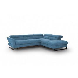 Rohová sedačka rozkladacia Naples pravý roh modrá