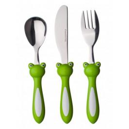 Sada detských príborov Banquet Frog, 3ks