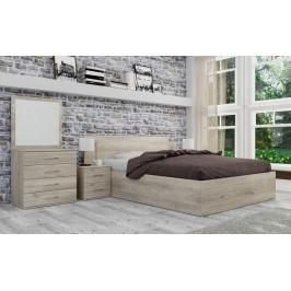 Spálňový program Ramon-rám postele, komoda, 2 nočné stolíky