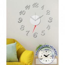 Nástenné hodiny - H15, 50 cm, strieborná