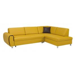 Rohová sedačka rozkladacia Vigo pravý roh ÚP žltá - II. akosť