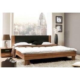 Helen - komplet, posteľ 180cm (matná čierna, italský ořech)