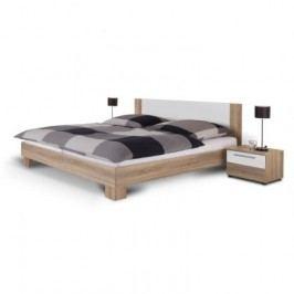 Helen - komplet, posteľ 180cm (dub sonoma, biela)