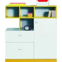MOBI MO 9 (biela lesk/žltá)
