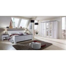 Chateau - komplet velký, posteľ 180cm (dub biely, lava čierna)