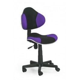 Flash - detská stolička (fialovo-čierna)