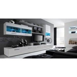 Alfa - obývacia stena (biela/biela)