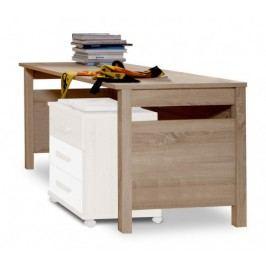 Game - Pracovný stôl (biela, dub)