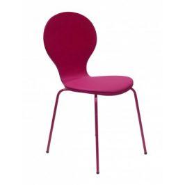 Flower - Jedálenská stolička, sedák (fuchsiová, eko koža)
