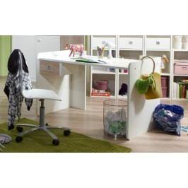 Sunny - Pracovný stôl (dub, alpská biela)