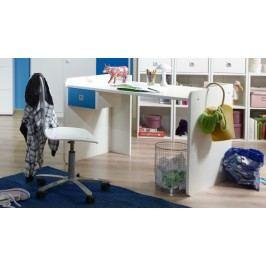 Sunny - Pracovný stôl (alpská biela s modrou)