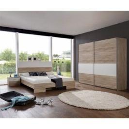 Alina - Komplet 10, posteľ 180 cm (dub, alpská biela)