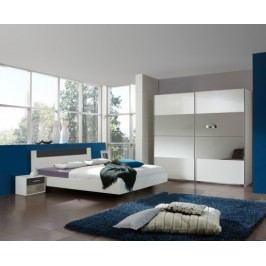 Ilona - Komplet 5, posteľ 140 cm (alpská biela, antracit)