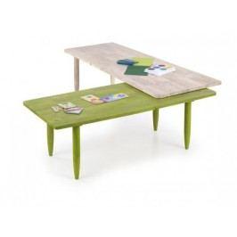 Bora-Bora - Detský stôl, farebný (bielené drevo, zelená)