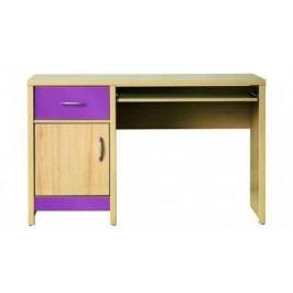 Monza - pracovný stôl, CD 11 (višňa cornvall, fialová)