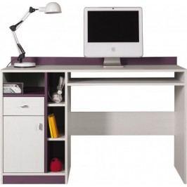 Stone - Detský pracovný stôl ST10 (biela, fialová)