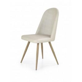 K214 - Jedálenská stolička (tmavo krémová, dub medový)