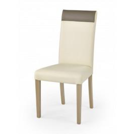 Norbert - Jedálenská stolička (krémová, dub sonoma)