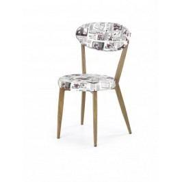 K215 - Jedálenská stolička (potlač, dub medový)