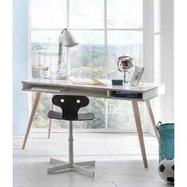 Billund - Písací stôl (alpská biela, dub)