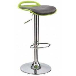 H60 - Barová stolička (zelená, čierna, strieborná)