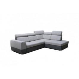 Rohová sedačka rozkladacia Matrix pravý roh ÚP sivá