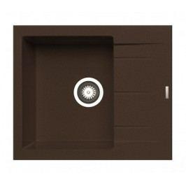 Alazia - Granitový drez 59x50, hnedá