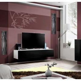 Fly - RTV, 1x dvere, 3x roz (biely mat/čierny lesk)
