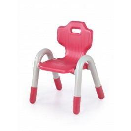 Bambi - Detské plastové kresielko (biela/červená)