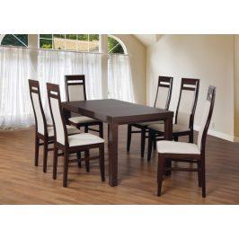 Set 3 - 6x stolička, stôl, rozkladací (wenge/nubuk 02W/buk)