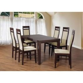 Set 3 - 6x stolička, stôl, rozkladací (wenge/madryt 111/buk)
