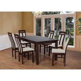 Set 7 - 6x stolička,1x stôl,rozklad (wenge/nubuk 02W)