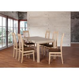 Set 17 - 6x stolička,1x stôl,rozklad (dub sonoma/nubuk 26W)