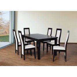 Set 24 - 6x stolička,stôl,rozklad (wenge/dub sonoma/madryt 120)