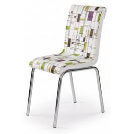 K260 - Jedálenská stolička (chróm, eko kože)