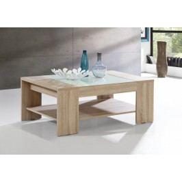 Brady - Konferenčný stolík (dub sonoma/biele sklo)
