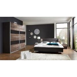 Madeira - Set posteľ 180x200 + skriňa 225 + noč.stolky(dub/láva)