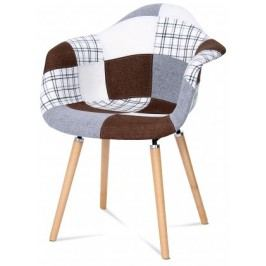 Color - Jedálenská stolička,podrúčkyCT-726 (patchwork/masiv buk)