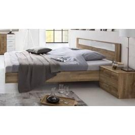 Pamela - Komplet,posteľ 160x200cm,nočné stolíky (tmavý dub)