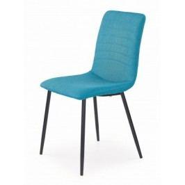 K251 - Jedálenská stolička, modrá (ocel, látka)