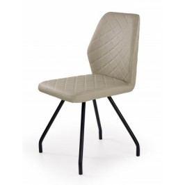K242 - Jedálenská stolička, cappucino (ocel, eko koža)