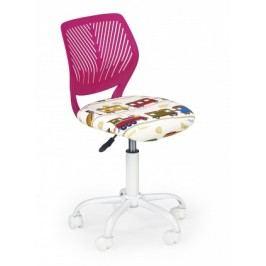 BALI - dětská stolička, růžová vláčky, regulacia výšky sedáku