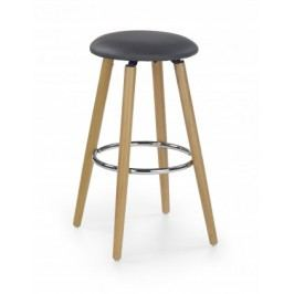 H-76 - Barová stolička, masivné bukové drevo, podsedák černý