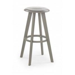 H-77 - Barová stolička, sivá (plast)