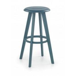 H-77 - Barová stolička, modrá (plast)