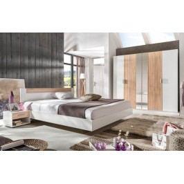 Ilona - Komplet 2, posteľ 160 cm (alpská biela, buk)