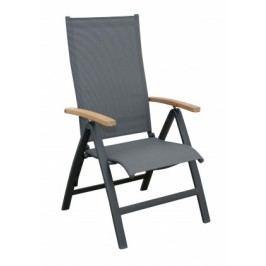 Parro - polohovacie kreslo, hlin. konštrukcia (antracit - Drevo)